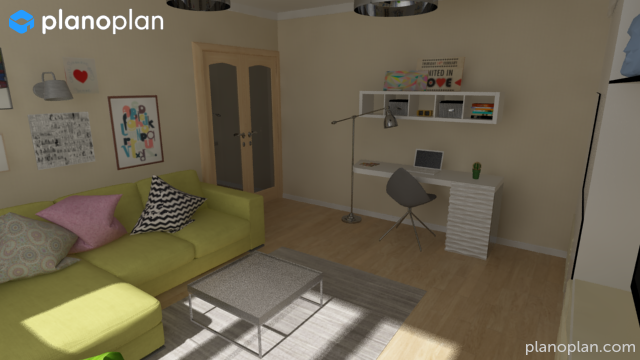 Planoplan free 3d room planner for virtual home design for Decorate a room online free virtually