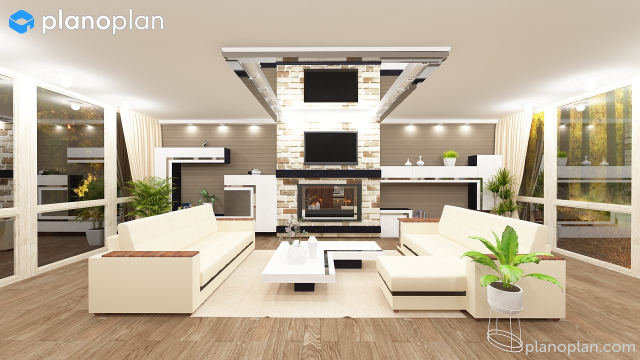 Planoplan free 3d room planner for virtual home design for Online bedroom planner
